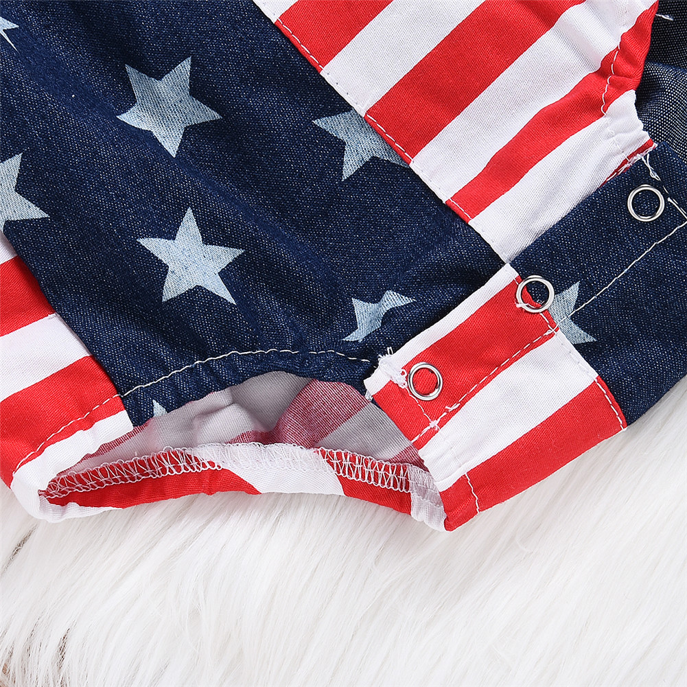 213eede6915 New Newborn Toddler Infant Baby Girl Jumpsuit Playsuit Bodysuit Headband  Outfit Stars Striped US Flag Fourth of July-in Bodysuits from Mother   Kids  on ...