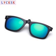 цена на TR90 Black Frame Polarized Clip On Sunglasses Lens For Myopia nearsighted Eyeglasses Women Men Rice Nail Night Vision Glasses L3