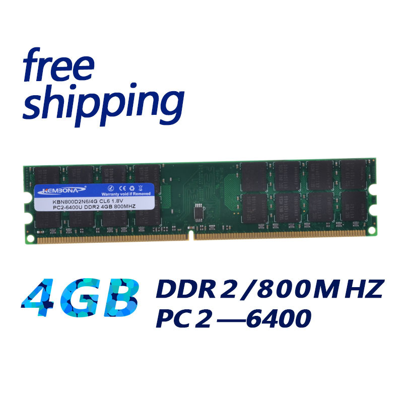 153 ona novo computador ram ddr2, memória ram ddr2 800mhz 4gb módulo de memória para pc desktop e computador 4g trabalho para A M D|RAM|   - AliExpress