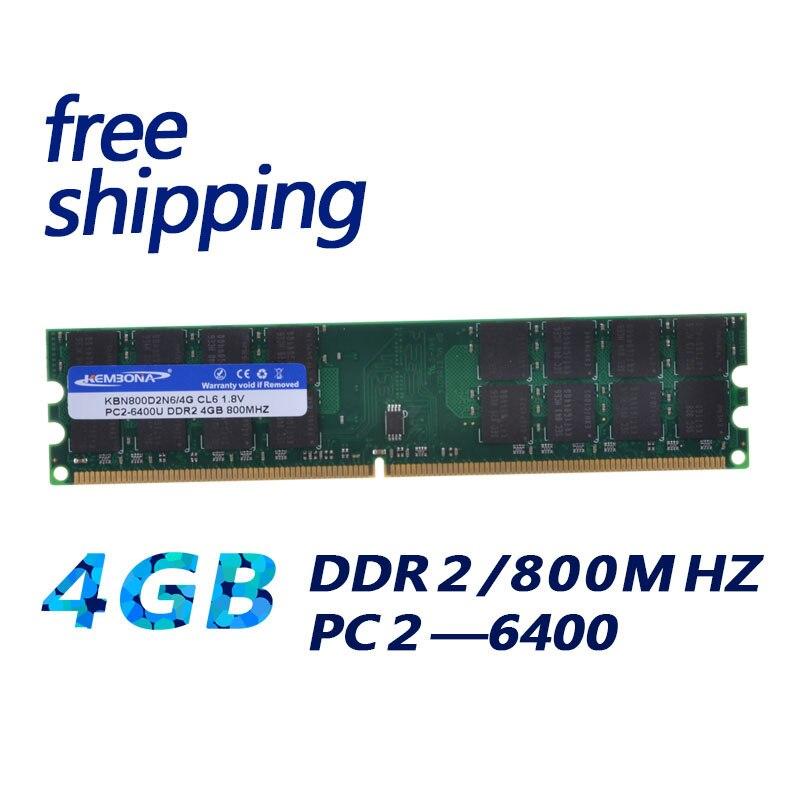 KEMBONA nuevo RAMs Computador Memoria RAM DDR2 800 MHz 4 GB Escritorio PC ordenador Memoria módulo RAM 2 RAM Bar 4G trabajo para A-M-D