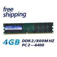 Kembona nuevo RAMs ordenador Memoria RAM DDR2 800MHz 4GB Escritorio PC módulo Memoria DDR 2 RAM Bar 4G trabajo para A-M-D