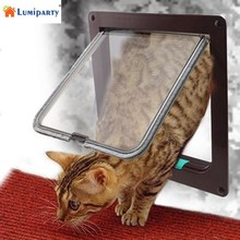 LumiParty Pet Supplies Cat Dog Flap Door with 4 Way Locking Installing Easily Pet Door Kit for Cats and Small Dogs-30