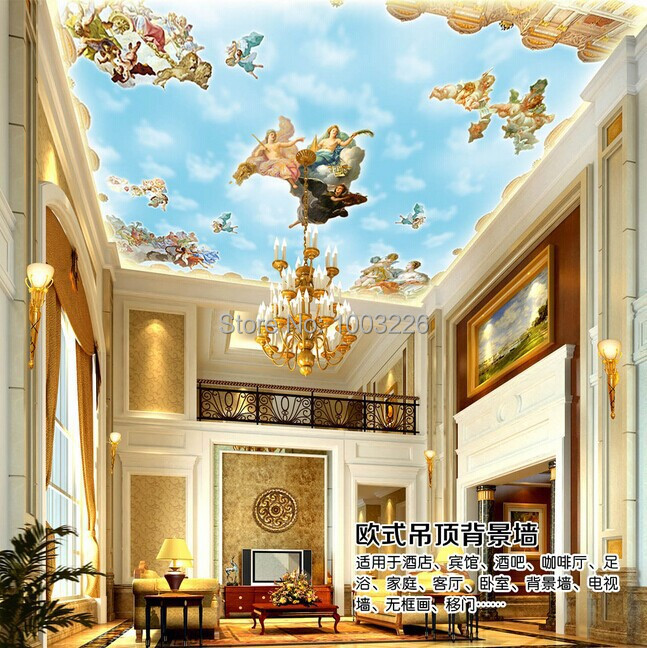 Soundproof ceiling insulation promotion shop for for Ceiling mural in a smoker s lounge