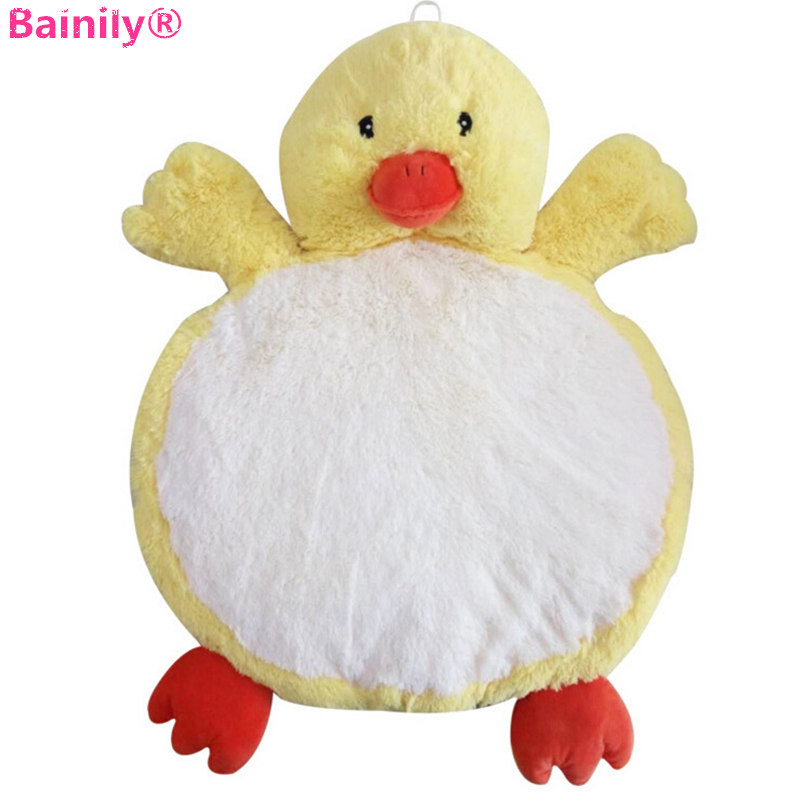 [Bainily] Hot 1pc Duck Model Baby Plush Toys Thickening Game Crawling Mat Carpet Soft Animal Mat Developing For Newborn Pet Rest