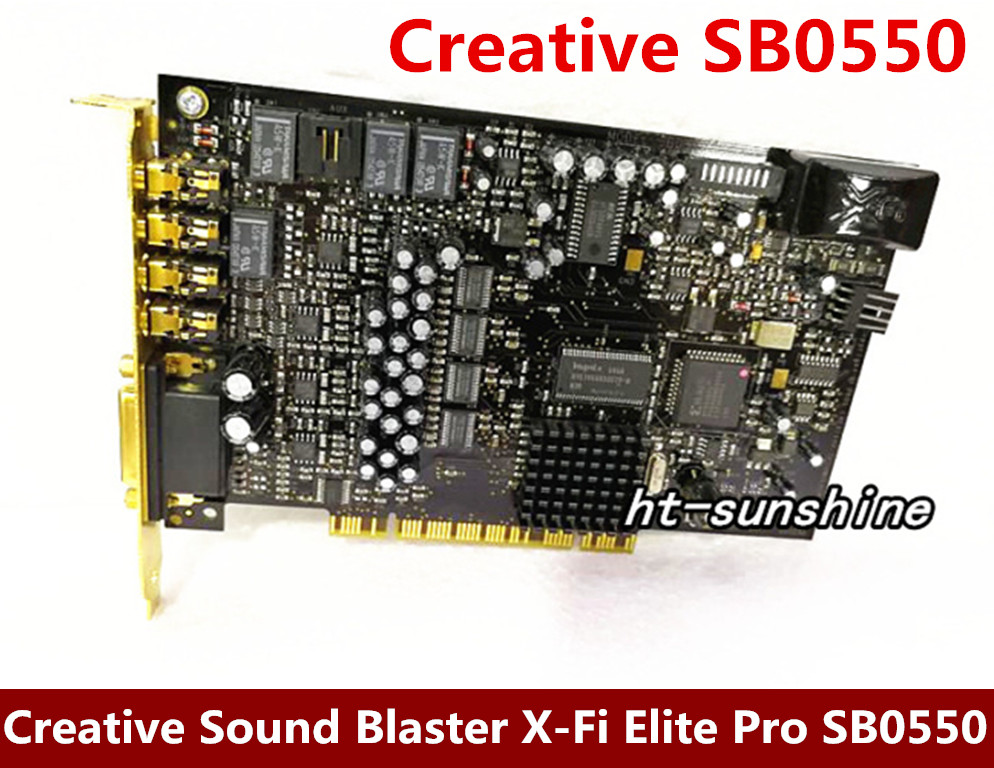 Original disassemble for Creative Sound Blaster X-Fi Elite Pro SB0550 7.1 sound card working good queenway amplifier new creative labs sound blaster external sound card for net karaoke x fi surround pro 5 1 usb d a converter