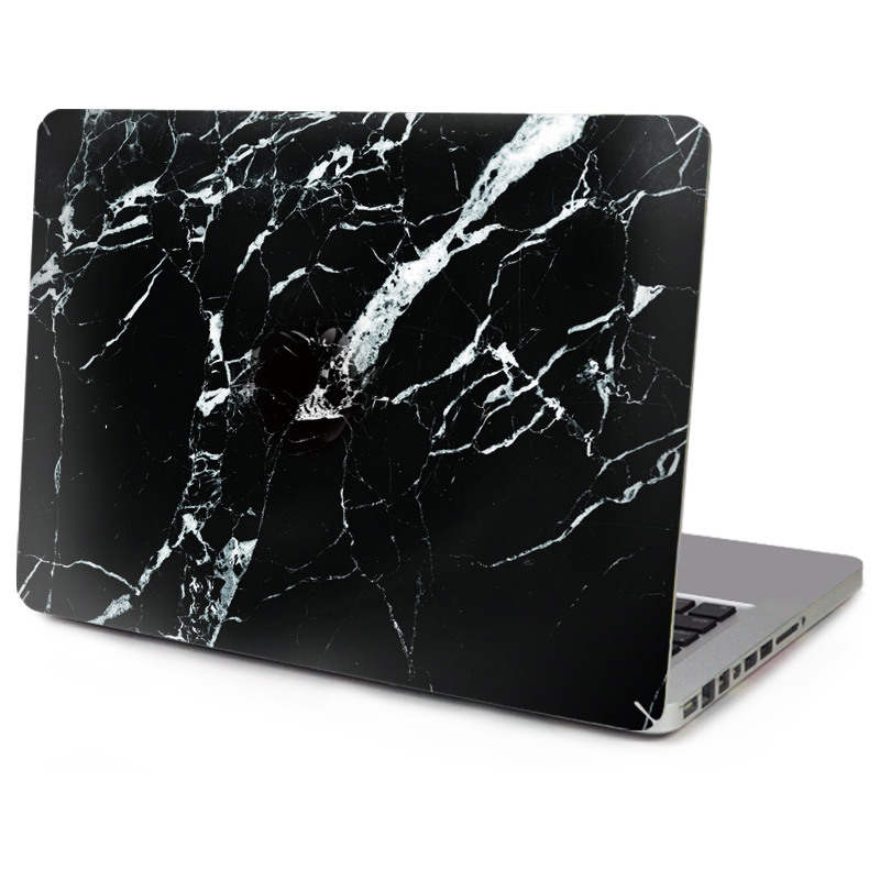 Hot Sale Laptop Vinyl Decal Black Marble Grain Full Skin