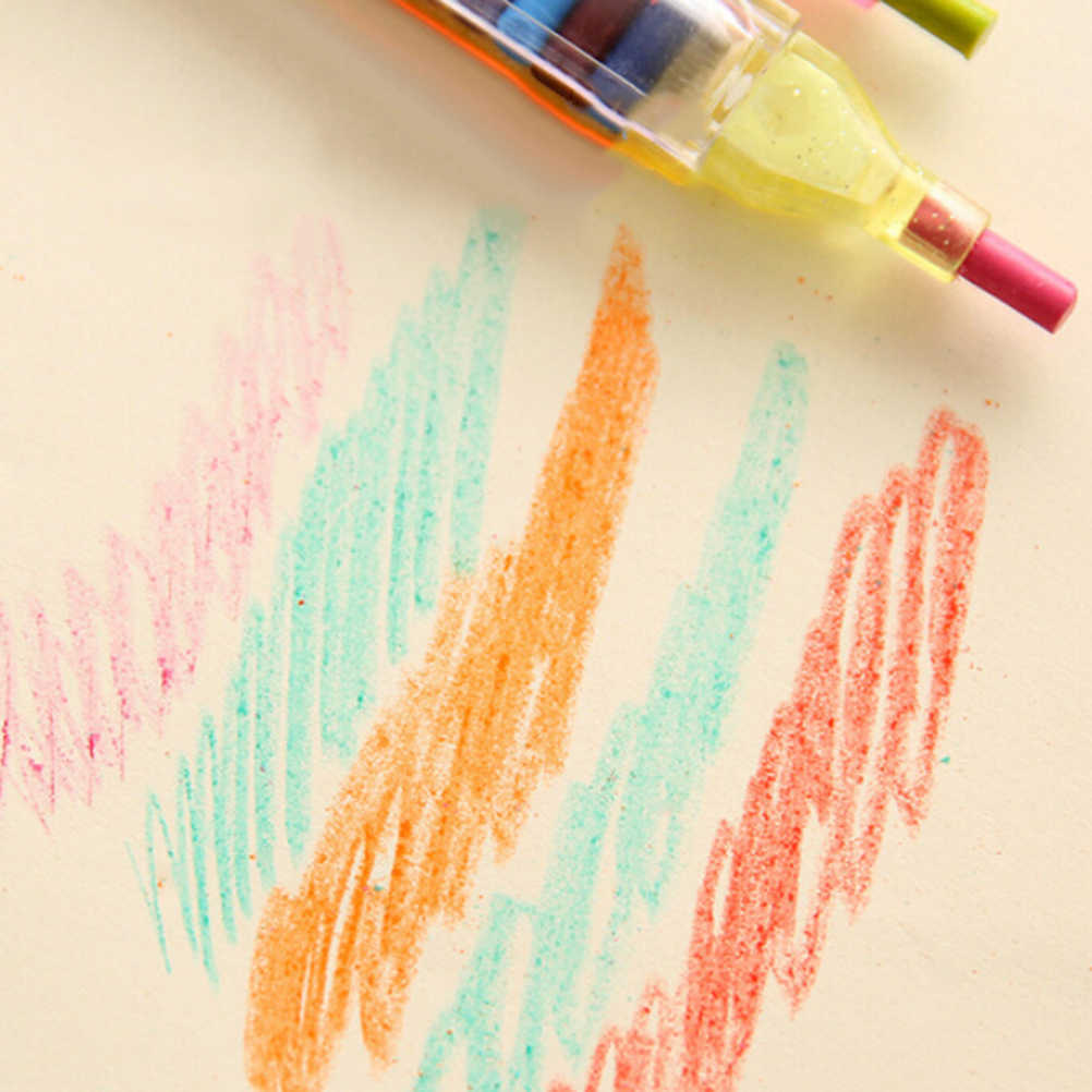 مجموعة واحدة 20 لون قلم تلوين رسم جرافيتي أقلام تلوين زيت الباستيل أقلام تلوين