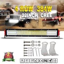 Colight 5D 384 Вт 22 inch свет бар offroad Combo 12 В 24 В светодиодные панели 38400lm для Jeep wrangler JK Toyota Лада Авто дальнего света
