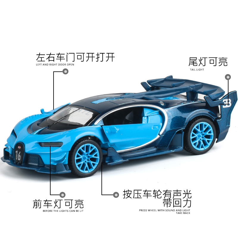 aliexpresscom buy 132 metal car models kids toys bugatti gt children like the gift decoration music back to function light super sports car j ye from