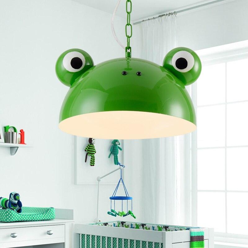 Lampe de chambre créative pour enfants garçon fille chaude dessin animé pendentif lampe grenouille restaurant bar pendentif lumière maternelle WL5071030
