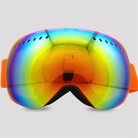 Brand New Ski Goggles Ski Goggles With Case Double Lens UV400 Anti Fog Adult Snowboard Skiing