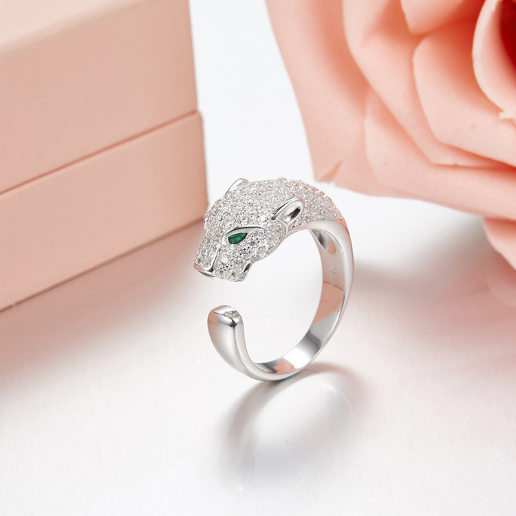 Top quality Brand Pure 925 Sterling Silver Jewelry For Women Wedding carter love ring Leopard Fashion personality all-match ring