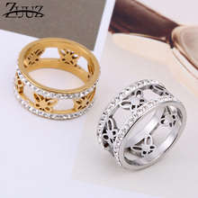 ZUUZ jewelry accessories rings for women stainless steel finger ring gold jewellery female engagement antique brilliant
