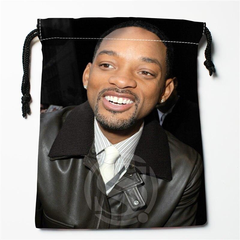 J&w20 New WILL SMITH Custom Printed  Receive Bag Compression Type Drawstring Bags Size 18X22cm W725&JYk20