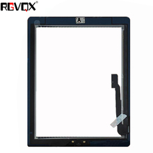 For iPad 3 Touch Screen Digitizer A1416 A1430 A1403 with Home Button and Adhesive Front Touchscreen Glass Replacement цены