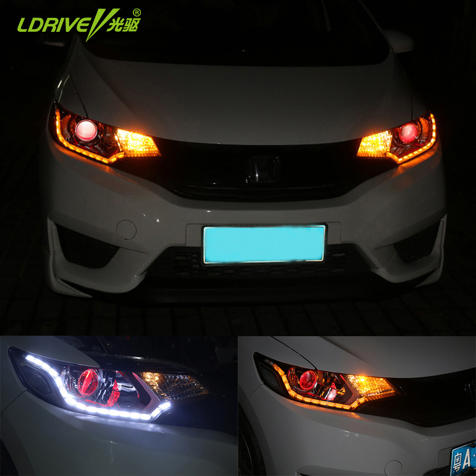 Universal Car LED Crystal Telescopic Mengalir Air Cahaya Putih - Lampu mobil - Foto 2
