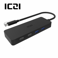 ICZI USB 3 1 Type C Thunderbolt 3 Compatible To 2 USB 3 0 Ports And