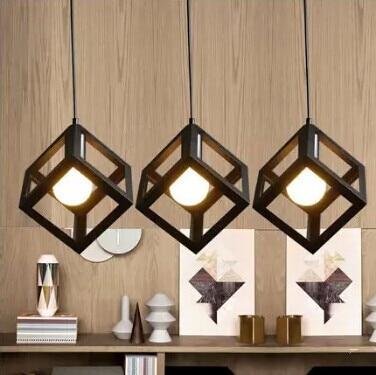 America industrial loft iron birdcage LED Pendant Light For dining room balcony corridor study,1 Light E27 Bulb Included