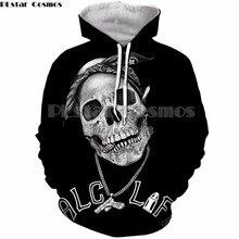 PLstar Cosmos 2018 moda ropa 3D impresión Thug Life cráneo 2pac Tops Tank  sudadera Hoodies para mujeres Hombres cremallera con c. 6037e5905fa