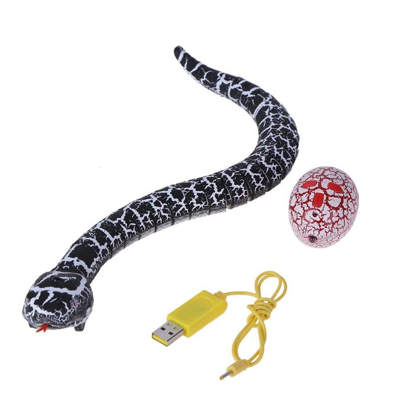 Remote Control Snake Plastic Simulation Animal Sneakers Infrared RC Toy Kids Trick Novel ...