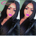 SilkBase 130Density Silky Straight Full Lace Wig Brazilian Virgin Hair 4*4 Silk Top Lace Front Wig Straight Hair For Black Women