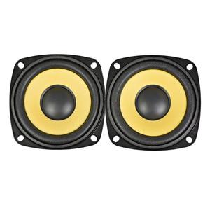 Image 2 - AIYIMA 2 adet 3 Inç tam aralıklı hoparlör 4Ohm 10W Altın Köpük Kenar Siyah Manyetik Multimedya Hoparlör DIY HIFI 78mm ses Hoparlör