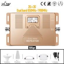 Amplificateur de signal à usage domestique GSM 3g double bande 850 & 1900 mhz, amplificateur/répéteur de téléphone portable avec marche/arrêt automatique LCD