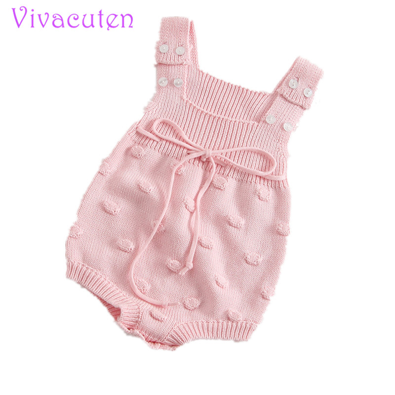 Baby knitted Bubbles Rompers Newborn Kid Baby Girls Wool Knitting Romper Sleeveless  Autumn Jumpsuit Outfit Set Baby Clothes newborn baby backless floral jumpsuit infant girls romper sleeveless outfit