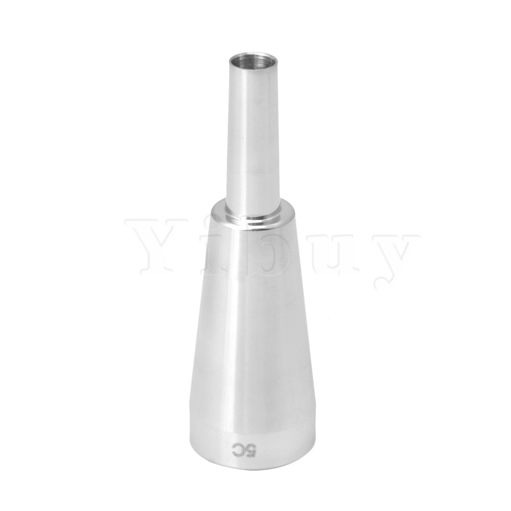 Yibuy 8.7x2.7cm Silver Metal Heavy Trumpet Mouthpiece Musical Instrument Accessory 5c fits Most Standard Trumpets Yibuy 8.7x2.7cm Silver Metal Heavy Trumpet Mouthpiece Musical Instrument Accessory 5c fits Most Standard Trumpets
