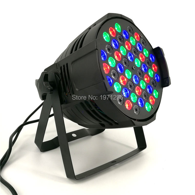 ФОТО 2017 New LED Par Can 54 x 3W RGBW 180W Color With 8 Channels Power Light with Professional for Party KTV Disco DJ Fast Shipping