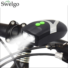 3 LED Bike Bicycle Light Universal Front Head Light Cycling Lamp + Electronic Bell Horn Hooter Siren Waterproof Accessories