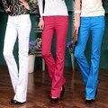 2016 женщины вспышки брюки средней высоты узкие длинные брюки офис леди OL расширяющиеся брюки деловых женщин сексуальный джинсовые брюки