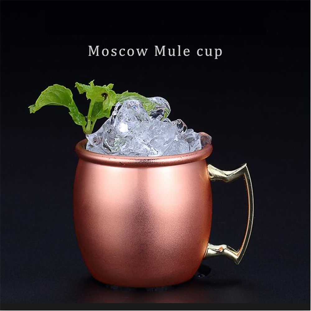 caneca de cobre Moscow Mule Mug 2oz Mini 60ml Pure Copper Plated Beer Coffee Cup Stainless Steel-Copper Drinkware ugs