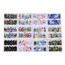 Tattoo Manicure Wraps Tools Tip 12PCS Butterfly Flower Nail Sticker Water Transfer Decal Sliders For Nail Art Decoration(China)