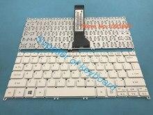 ต้นฉบับแป้นพิมพ์ภาษาอังกฤษใหม่สำหรับ ACER Aspire V3 331 V3 331 P7J8 V3 371 V3 372 V3 372T แล็ปท็อปแป้นพิมพ์ภาษาอังกฤษสีขาว