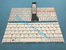 Original novo teclado inglês para acer aspire V3 331 V3 331 P7J8 V3 371 V3 372 V3 372T portátil inglês teclado branco