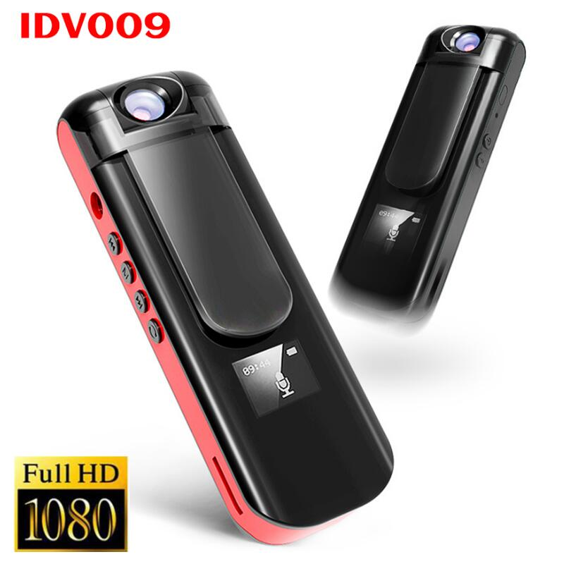 IDV 009 Mini Camera Recording Pen 1080P Full HD Sport DV Camcorder Rotate Lens Voice Video Recorder Built-in MP3 Player Mini DVR jw sport mg 009