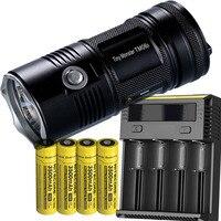 Поисковый фонарик NITECORE TM06S CREE XM L2 U3 светодиодный Макс. 4000 люмен луч расстоянии 359 м + 4*3500 мАч батареи + Новый I4 Зарядное устройство