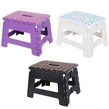Раскладные табуреты утолщаются Пластик детский табурет, подставка для ног Портативный Пикник Сложите отверстие мебели для дома 9 в складной стул шаг безопасный