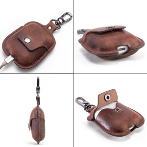 Image 4 - Genuine Leather Bluetooth Wireless Earphone Case For AirPods 2 Protective Cover Skin Accessories For Apple Airpods Charging Box