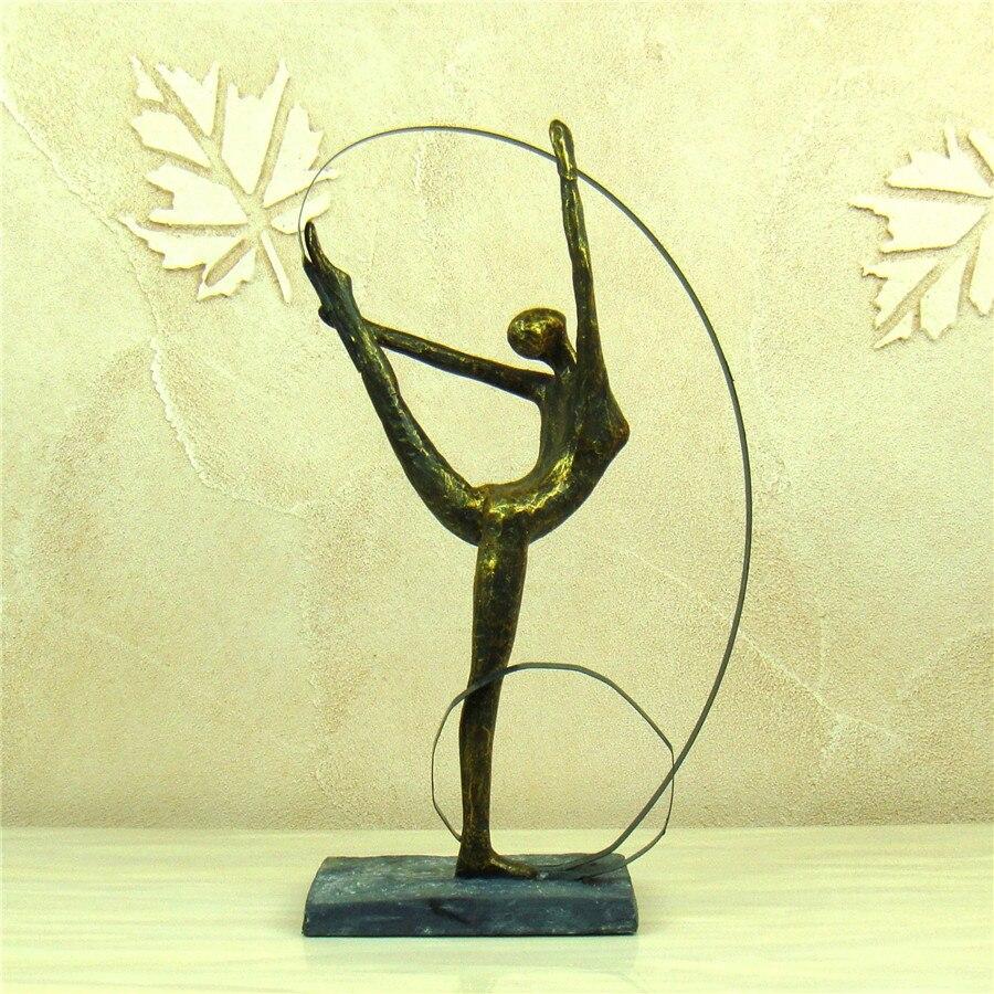 Abstract Female Gymnast Statuette Resin Artistic Calisthenics ...