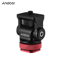 Andoer 180° Rotary Mini Ball Head Hot Flash Shoe Mount Adapter with Wrench for DSLR Camera Microphone Video Monitor Tripod