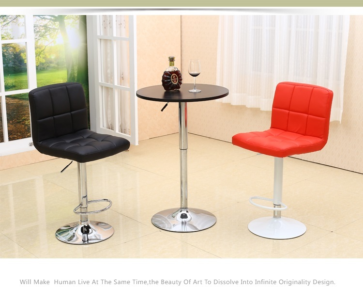 Cafe Bar chairs Hotel reception room stool black red color furniture shop retail wholesale free shipping southeast asia fashion bar stool retail red white black countryside bar pastoral style stool free shipping