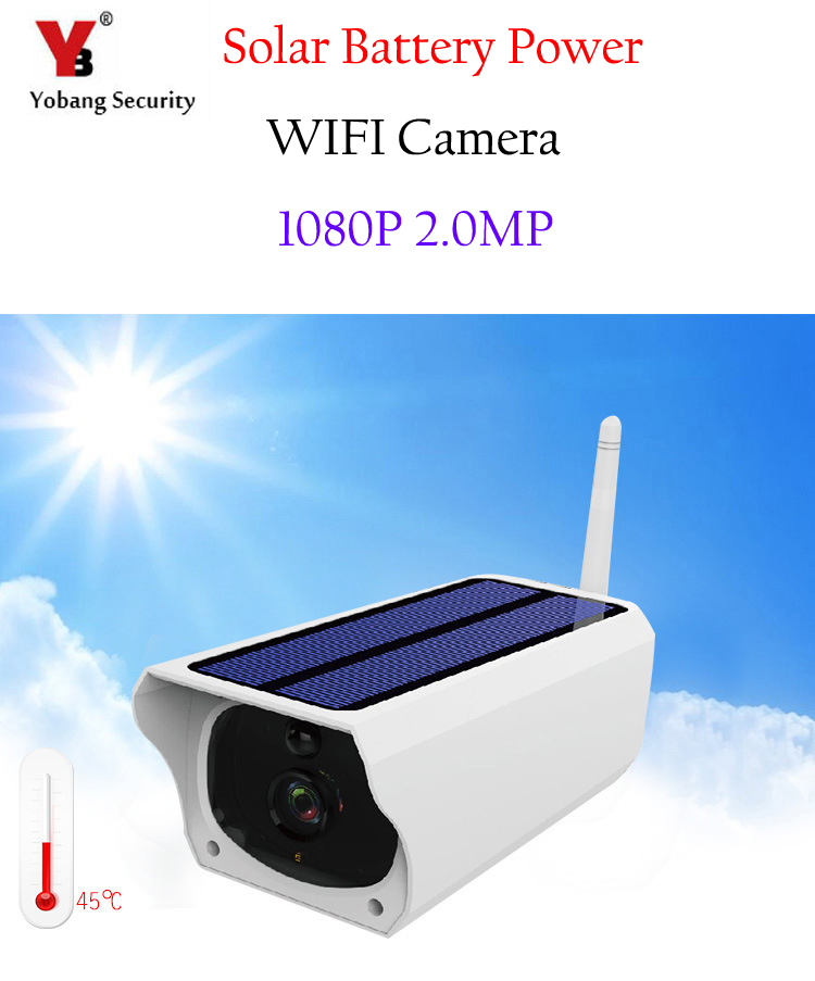 Yobang Security Professional Human HD 1080P Induction Solar Power font b Outdoor b font Bullet Security