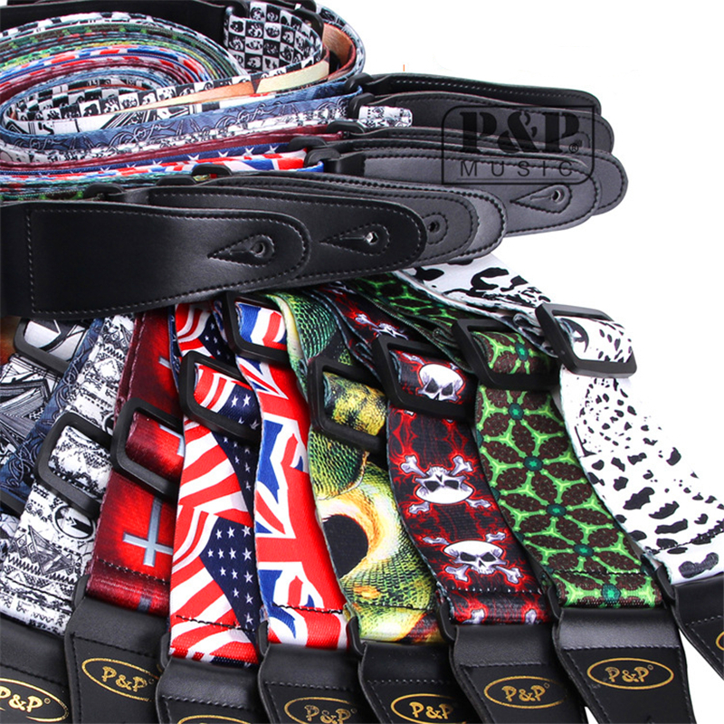 Guitar Strap for Stringed Instruments Electric / Acoustic Guitar or Bass Strap dacron material Belt Guitar Parts & Accessorie amumu traditional weaving patterns cotton guitar strap for classical acoustic folk guitar guitar belt s113