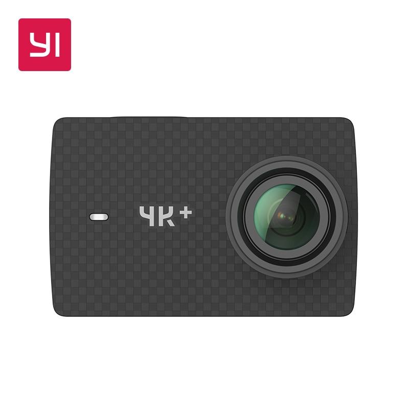 YI 4 K + (Plus) câmera ação Edição Internacional PRIMEIRA 4 K/60fps Amba H2 SOC Cortex-A53 IMX377 12MP CMOS 2.2