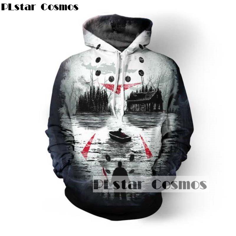 PLstar Cosmos Drop shipping 2018 New Fshion Autumn 3d hoodies Mens women Sweatshirts Friday Night Terror Print Tracksuits