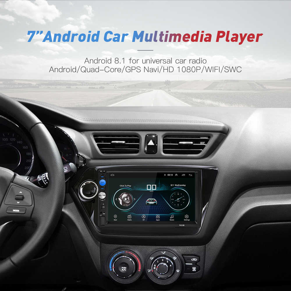 Universal 2Din Car Radio Android 8.1 GPS Navigation Autoradio Multimedia Player Bluetooth WIFI Mirror Link OBD2 in Dash