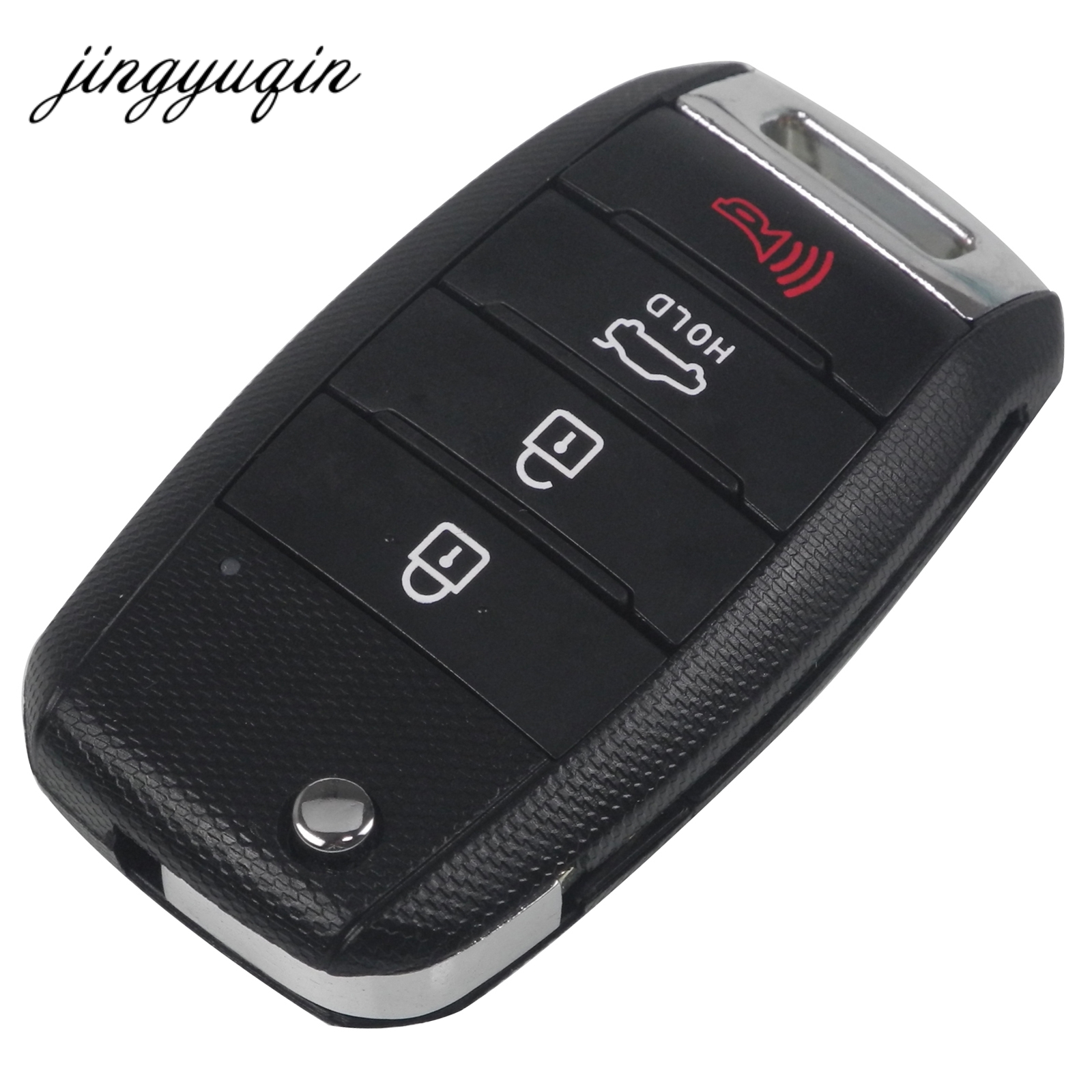 jingyuqin Replacement Key Shell fit for KIA Optima Sorento Soul Carens Sportage Flip Remote Key Entry Case Fob 4 Buttonjingyuqin Replacement Key Shell fit for KIA Optima Sorento Soul Carens Sportage Flip Remote Key Entry Case Fob 4 Button