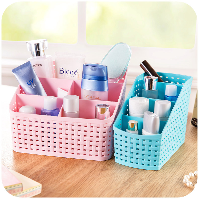 cute desk organizer jewelry storage bins makeup cosmetic desk accessories holder statonary storage container